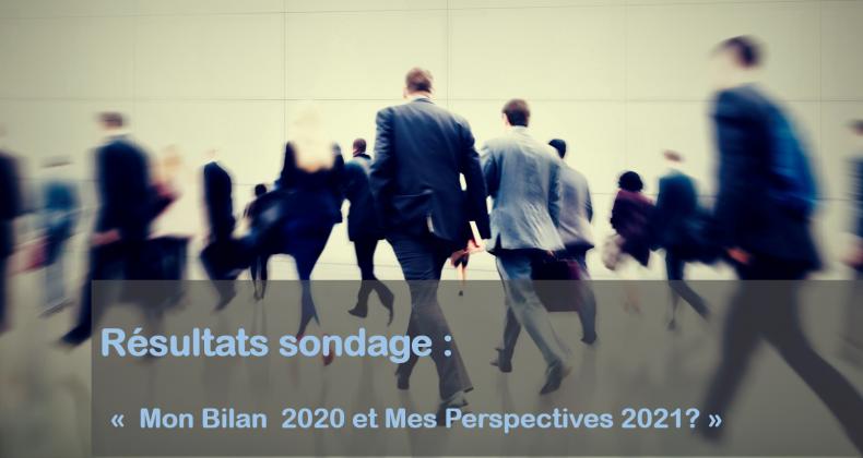 Résultats du sondage : Quel bilan 2020 et perspectives 2021